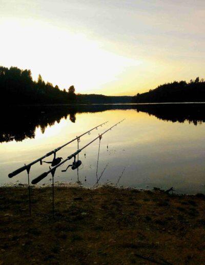 rybaření u přehrady Orlík Podolsko